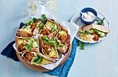 Chicken Korma Pita Breads