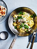 Indian-style scrambled eggs with green chilli and coconut