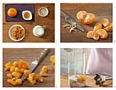 How to prepare fruity mandarine & dried apricot shake