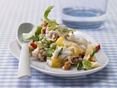 A classic Waldorf salad with pineapple