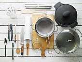 Kitchen utensils for preparing roast lamb