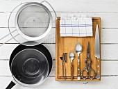 Küchengeräte die zum Rezept benötigt werden
