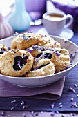 Blueberry & lavender biscuits