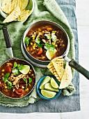 Chicken, Chorizo and Blackbean soup