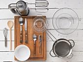 Küchenutensilien für Soufflezubereitung