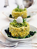 Kedgeree with spinach