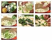 How to prepare peas and kohlrabi