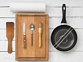 Küchenutensilien für Spiesszubereitung