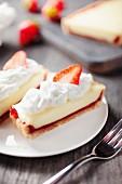 Strawberry & vanilla cake with whipped cream