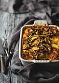 Creamy chicken lasagne with mushrooms and marscapone