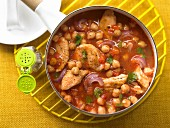 Chickpea & tomato stew with turkey breast
