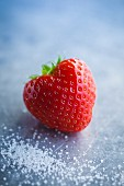 A strawberry (close-up)