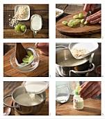 Trauben-Reisbrei in der Babyflasche zubereiten