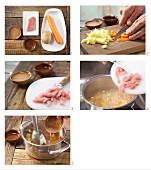 Möhrenbrei mit Schweinefleisch zubereiten