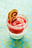 Raspberry quark with a palmier