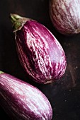 Striped eggplants