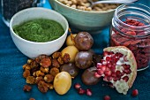 Various ingredients for superfood recipes