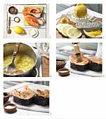 Gegrillten Pfeffer-Lachs zubereiten