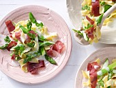 Asparagus pasta with Grisons air-dried beef