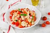 Panzanella with cherry tomatoes