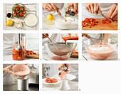 Erdbeer-Joghurt-Eis zubereiten
