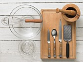 Kitchen utensils for making fruit salad