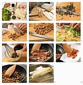 Spargel-Frisee-Salat mit Bacon zubereiten