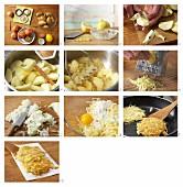 Kartoffelpuffer mit Apfelmus zubereiten
