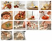 Erdbeer-Quarkknödel mit Erdbeer-Rhabarbersauce zubereiten
