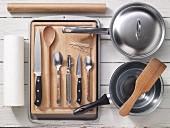 Kitchen utensils for preparing stuffed chicken breast