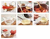 How to prepare rhubarb compote with vanilla cream