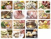 Fischfrikadellen mit Kartoffelsalat zubereiten