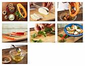 How to prepare papaya & mozzarella carpaccio