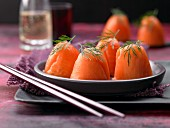 Sushi cones with salmon