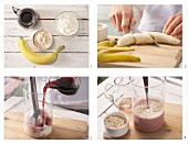 How to prepare a cherry and banana oat drink