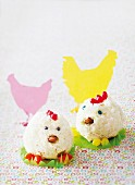 Easter chick cupcakes
