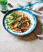 Gratinated penne with chicken and chard