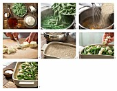 How to prepare green bean gratin with spelt semolina