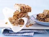 Peanut and raisin bars