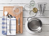 Kitchen utensils for making jam