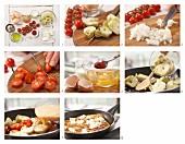Artischockentortilla mit Tomaten und Schafskäse zubereiten