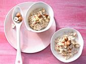 Bircher muesli with hazelnuts
