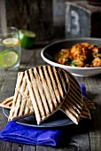 Grilled Indian naan bread