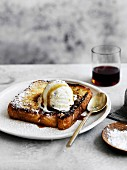 French Toast, Dessert, bread, ice-cream