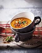 Spicy lentil & tomato soup