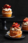Cupcakes with hazelnuts, pumpkin and plum