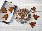 Iced gingerbread people