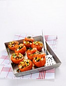 Oven-baked stuffed tomatoes