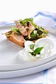 Ventresca di tonno con caponata (Thunfisch mit Gemüse süss-sauer, Italien)