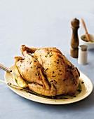 Roast turkey with herbs
